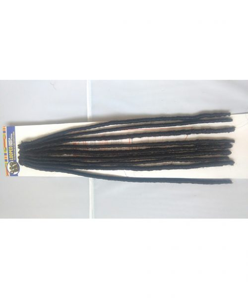 Faux Locks 18 inches. Easy and Fast Crochet. Looped. Black Colour 1B Dreadlock